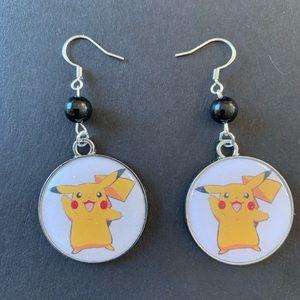 3/$30 Pokémon Pikachu Jet Beaded Earrings